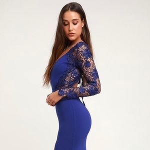 ‼️SOLD‼️ on Ⓜ️ Royal Blue LaceUp Backless